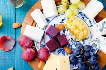 Colorful Cheese Platter