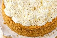 eggnog cheesecake header image