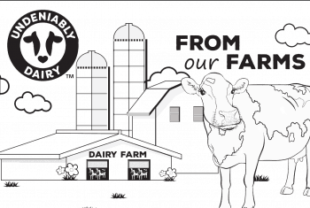 From Farm to Fridge Dairy Coloring Page