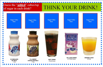 Think Your Drink Sugar Cube Activity