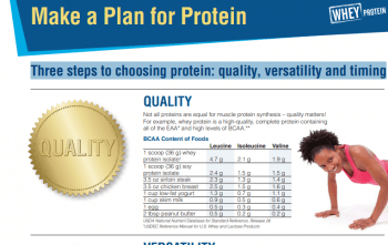Make a Plan for Protein