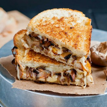 Photo of Smoked Swiss and Mushroom Grilled Cheese
