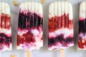 Berry Parfait Yogurt Popsicles