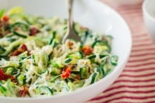 Zucchini Noodle Mac and Cheese with Sun-Dried Tomatoes