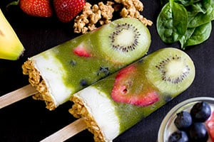 Green Smoothie Parfait Pops