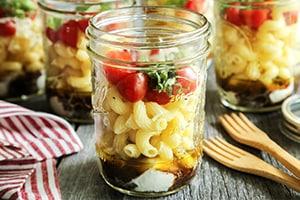 Individual Caprese Pasta Salads