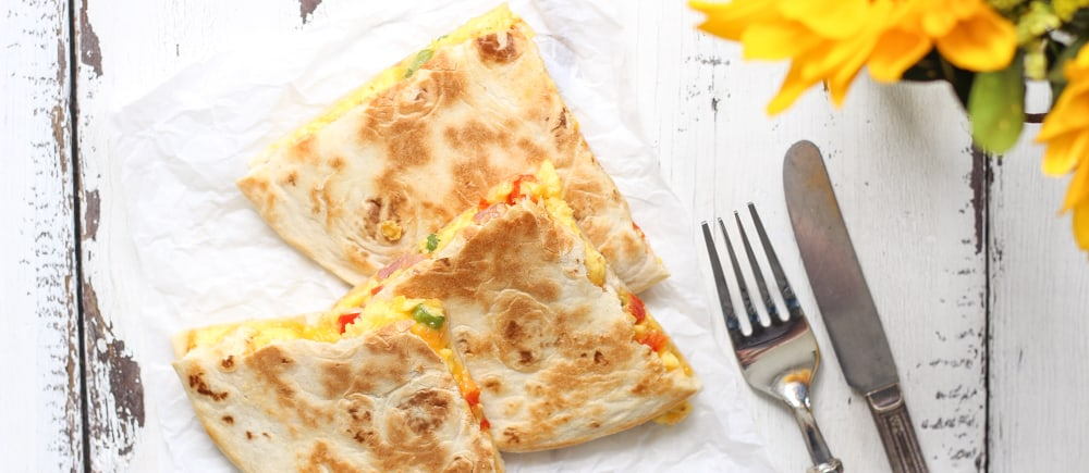 Denver Omelet Breakfast Quesadilla