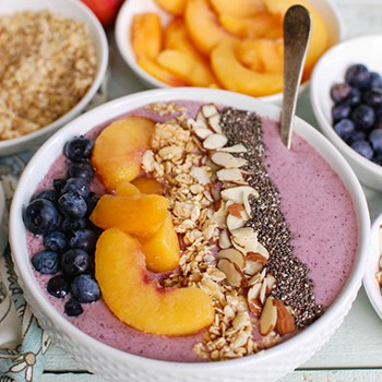 Photo of Peach Blueberry Smoothie Bowl