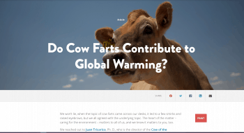 Do Cow Farts Contribute to Global Warming?