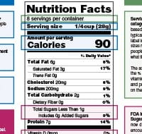 cheese nutrition label