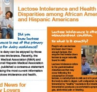 Lactose Intolerance and Health Disparities among African Americans and Hispanic Americans