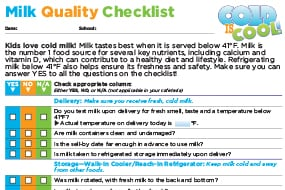 Milk Quality CheckList