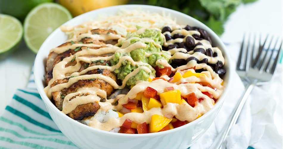 chipotle lime taco bowl