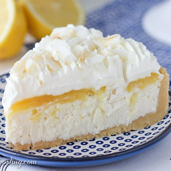 Photo of No-Bake Lemon (Coconut) Macaroon Cheesecake