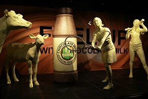 2017 Ohio State Fair Butter Cow Display