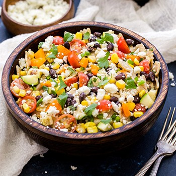 Photo of Creamy Southwest Vegetarian Pasta Salad