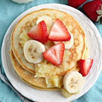 Photo of Banana Split Greek Yogurt Pancakes