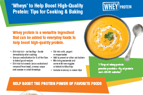 Wheys to Boost Protein – Tips for Cooking & Baking
