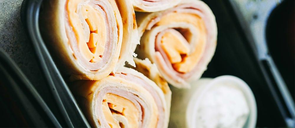 ham n cheese pinwheels
