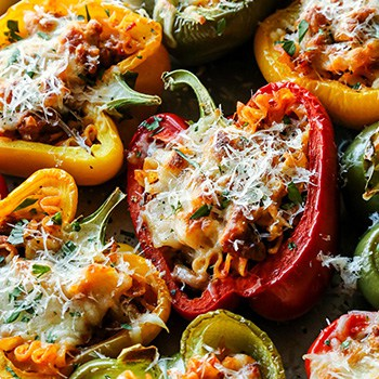 Photo of Cheesy Lasagna Stuffed Peppers