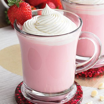 Photo of Strawberry White Hot Chocolate with Homemade Whipped Cream