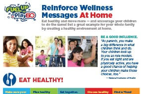 Reinforce Wellness Messages at Home