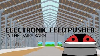 Electronic Feed Pusher in the Dairy Barn