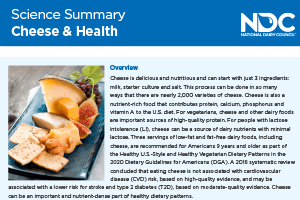 Science Summary: Cheese & Your Health