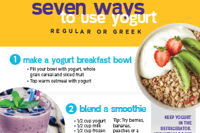 Seven Ways to Use Yogurt