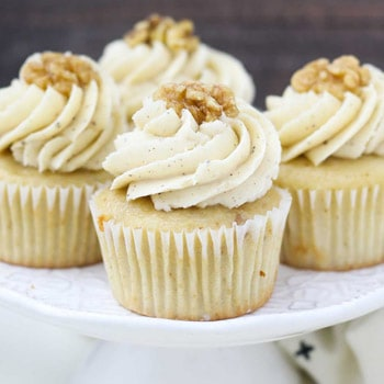 Photo of Maple Walnut Cupcakes with Brown Butter Frosting