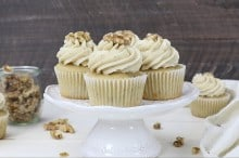 Maple Walnut Cupcakes with Brown Butter Frosting by Beyond Frosting