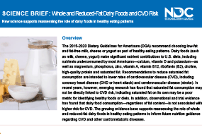 Science Summary: Whole & Reduced-Fat Dairy Foods