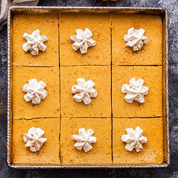 Photo of Creamy Pumpkin Pie Bars