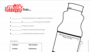 Milk It Activity Page