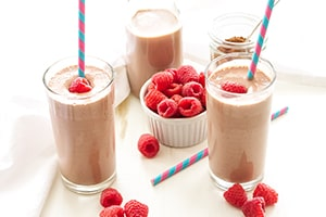 Chocolate Raspberry Smoothie