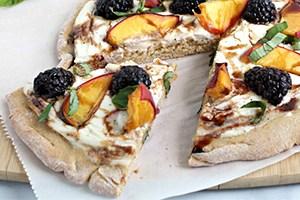 Creamy Summer Fruit Pizzas