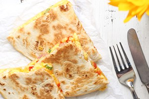 Denver Omelet Breakfast Quesadilla