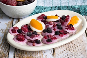 Frozen Fruit & Yogurt Discs