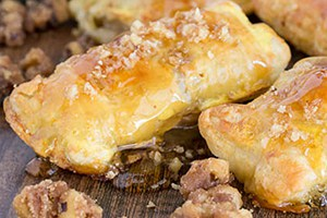 Honey Brie Bites with Candied Walnuts