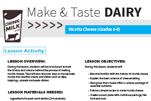 Make & Taste Lesson: Ricotta