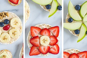 Peanut Butter Yogurt Fruit Pizzas