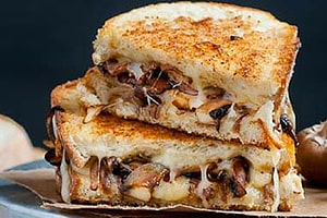 Smoked Swiss & Mushroom Grilled Cheese