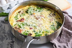 Spinach & Cheese Frittata