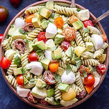 Photo of Tomato Avocado Pasta Salad