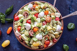 Tomato Avocado Pasta Salad