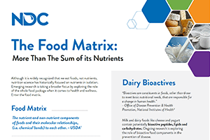 The Food Matrix: More than the Sum of its Nutrients