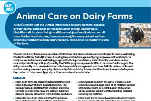 Fact Sheet: Animal Care