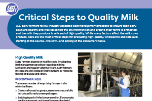 Fact Sheet: Milk Quality