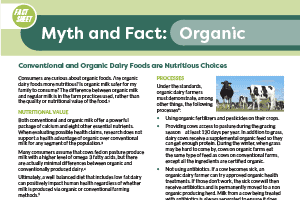 Fact Sheet: Organic Milk