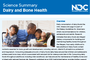 Science Summary: Dairy & Bone Health